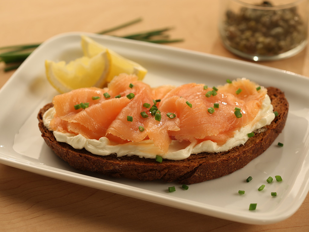lox and fairway cream cheese on pumpernickel bread fairway market