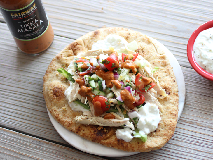 Fairway Rotisserie Chicken Gyros with Cucumber Salsa ...