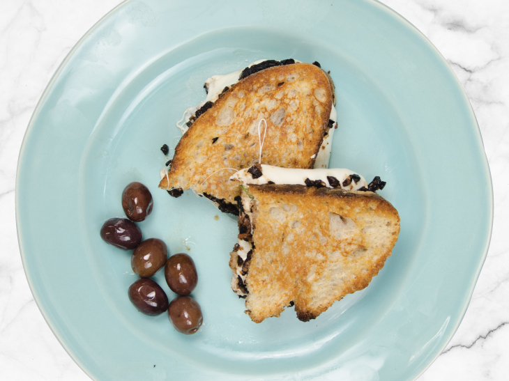 Grilled Mozzarella Sandwich With Anchovy-Olive Tapenade Recipe ...