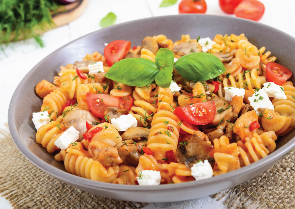 Riccioli with Chicken and Mushrooms