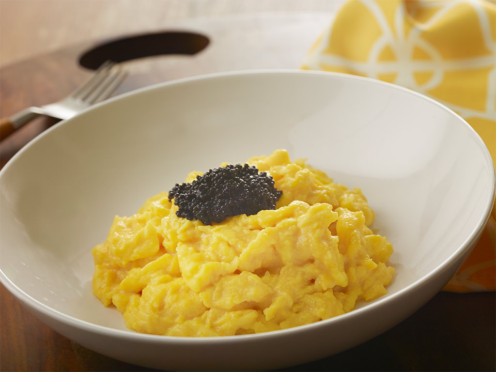 Scrambled Eggs with Paddlefish Roe